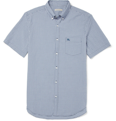 Burberry Brit Check Short-Sleeved Cotton-Blend Shirt