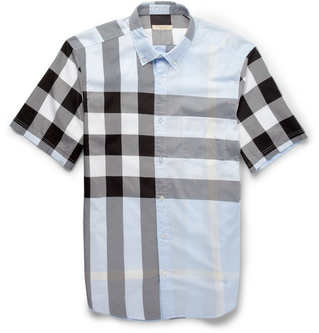 Burberry Brit Check Cotton Short-Sleeved Shirt