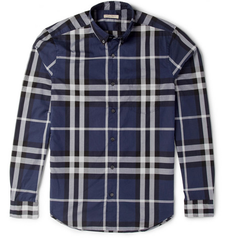 Burberry Brit Check Cotton Button-Down Collar Shirt