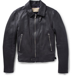 Burberry Brit Full-Grain Leather Jacket