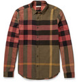Burberry - Cotton-Flannel Check Shirt