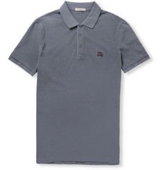 Burberry Brit Metal-Plaque Cotton-Piqué Polo Shirt
