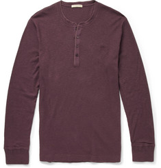 Burberry Brit Cotton and Wool-Blend Henley T-Shirt