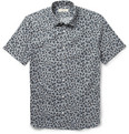 Burberry London Slim-Fit Printed Cotton and Silk-Blend Shirt
