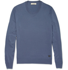 Burberry London Crew Neck Merino Wool Sweater