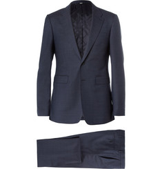 Burberry London Blue Wool Travel Suit