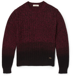 Burberry London Dip-Dyed Chunky-Knit Merino Wool Sweater