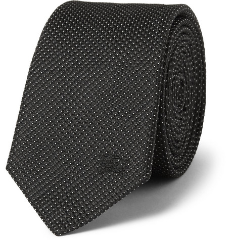 Burberry London Pin-Dot Silk Tie