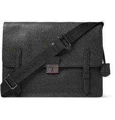 Burberry Shoes & Accessories Textured-Leather Messenger Bag