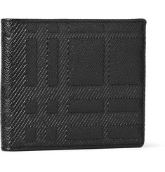 Burberry Shoes & Accessories Embossed Check Leather Billfold Wallet