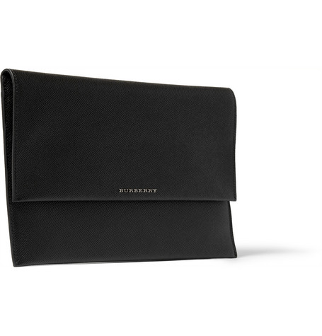Burberry Shoes & Accessories Cross-Grain Leather iPad Cover