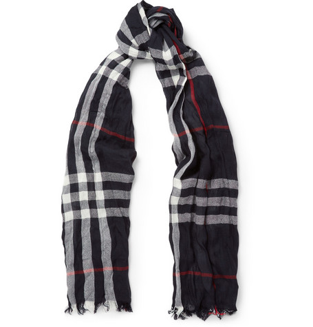 Burberry Shoes & Accessories Check Merino Wool and Cashmere Lightweight Scarf