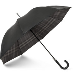 Burberry Shoes & Accessories Plaid-Lined Automatic Umbrella