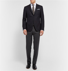 Canali Wool-Blend Piqué Travel Blazer