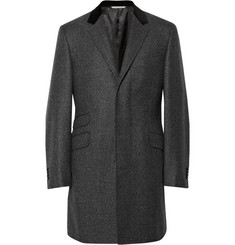 Canali Slim-Fit Velvet-Collar Wool Overcoat
