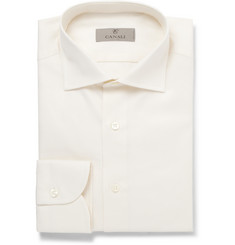 Canali Ivory Slim-Fit Cotton Shirt