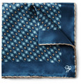 Canali - Circle-Print Silk Pocket Square
