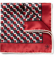 Canali Square-Print Silk Pocket Square