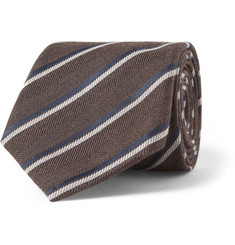 Canali Striped Wool and Silk-Blend Tie