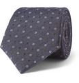 Canali - Patterned Wool and Silk-Blend Tie