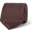 Canali Dotted Woven-Silk Tie
