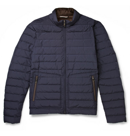 Canali Rain & Wind Tech Quilted Down-Filled Jacket