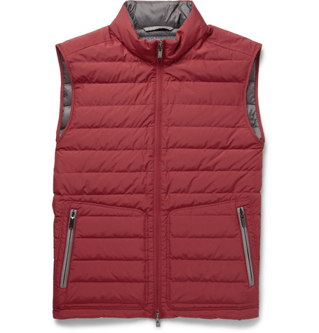 Canali Rain & Wind Tech Quilted Down-Filled Gilet