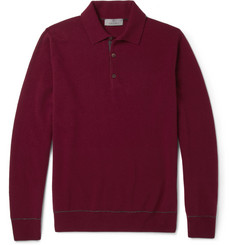 Canali Knitted Wool and Cashmere-Blend Polo Shirt