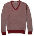 Canali Knitted-Cashmere V-Neck Sweater