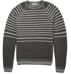 Canali Striped Wool and Cashmere Sweater