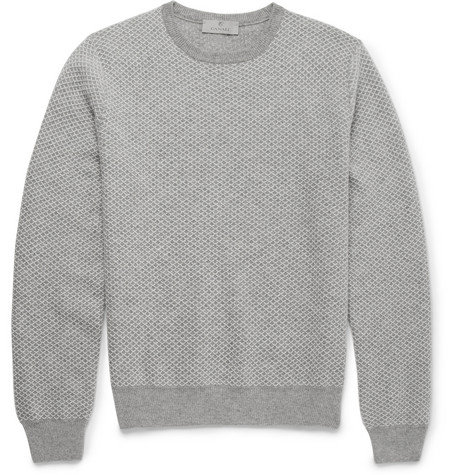 Canali Diamond-Patterned Cashmere Sweater