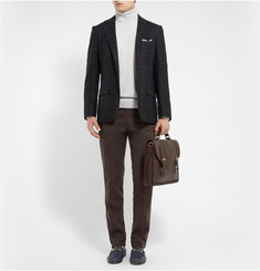 Canali Brushed Cotton-Blend Chinos