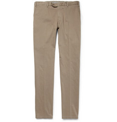 Canali Brushed Cotton-Blend Trousers
