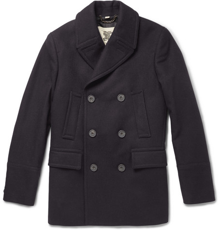 Burberry London Slim-Fit Wool-Blend Peacoat