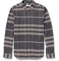 Burberry - Check Brushed-Cotton Shirt