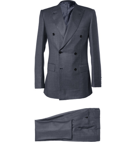 Brioni Grey Wool and Silk-Blend Suit