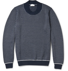 Brioni Patterned Knitted Cashmere and Silk-Blend Sweater