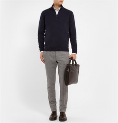 Brioni Zip-Collar Cashmere Sweater