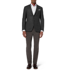 Brioni Slim-Fit Brushed-Cotton Trousers