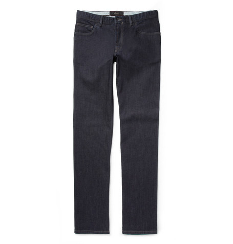 Brioni Regular-Fit Rinsed-Denim Jeans