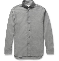 Brioni Cotton-Twill Contrast Collar Shirt