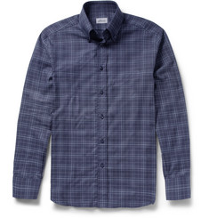 Brioni Check Cotton and Cashmere-Blend Shirt