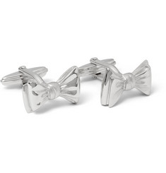 Lanvin Bow Tie Rhodium-Plated Cufflinks