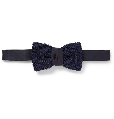 Lanvin Knitted Silk Bow Tie