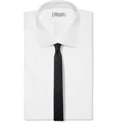 Lanvin Black Watch Check Wool-Blend Tie