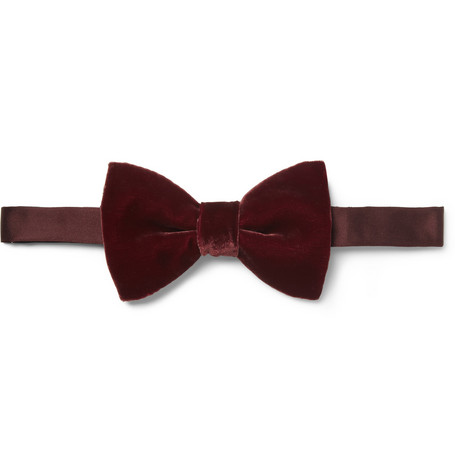 Lanvin New Alber Velvet and Silk Bow Tie