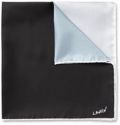Lanvin Four-Tone Silk Pocket Square