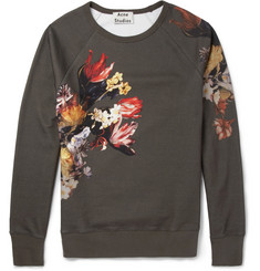 Acne Studios College Printed Loopback Cotton-Jersey Sweatshirt
