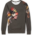 Acne Studios - College Printed Loopback Cotton-Jersey Sweatshirt