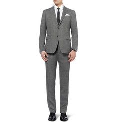 Etro Grey Slim-Fit Patterned Wool Suit